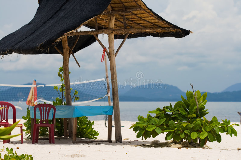 Download Tropical hut on the beach stock photo. Image of beach - 3228326