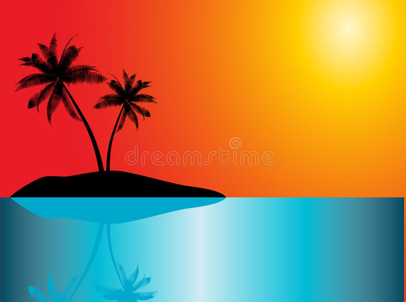 Download Tropical island stock vector. Illustration of nature, beach - 1019483