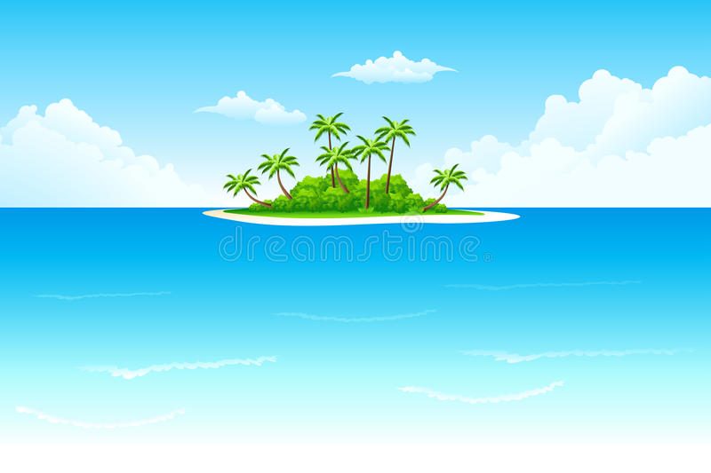 Download Tropical island stock vector. Illustration of blue, beach - 13042970
