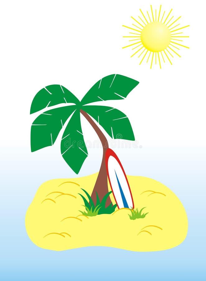 Download Tropical island stock vector. Image of tropics, tree - 14984467