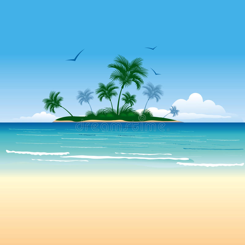Download Tropical island stock vector. Image of illustration, island - 24533814