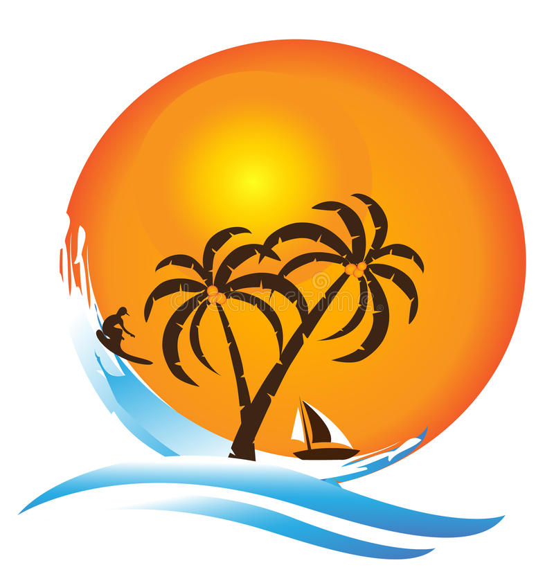 Download Tropical island stock vector. Image of nature, icon, caribbean - 25409558