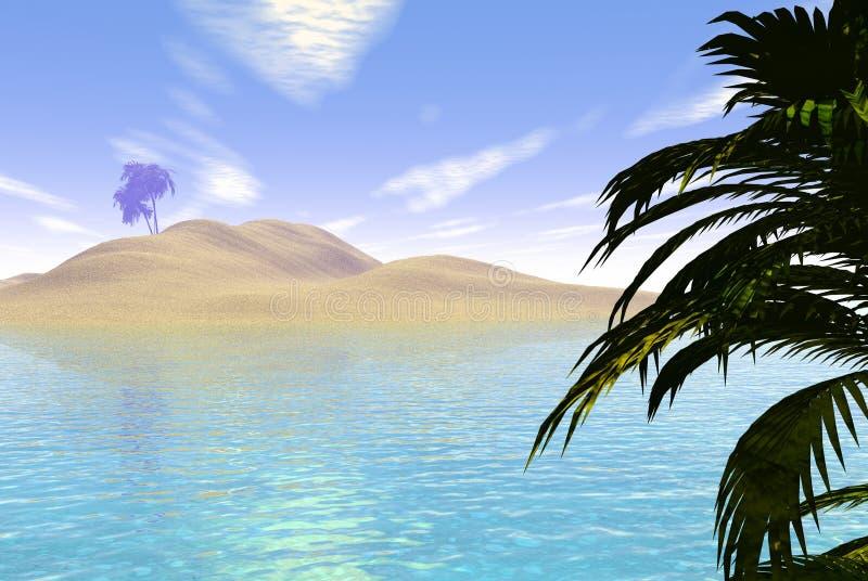 Tropical Island royalty free illustration