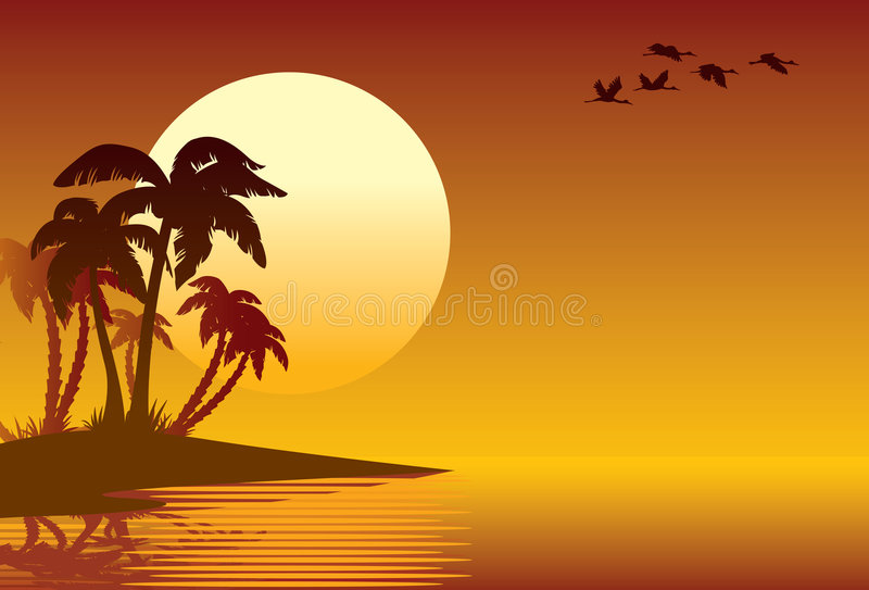 Download Tropical island stock vector. Image of nature, recreation - 4957939