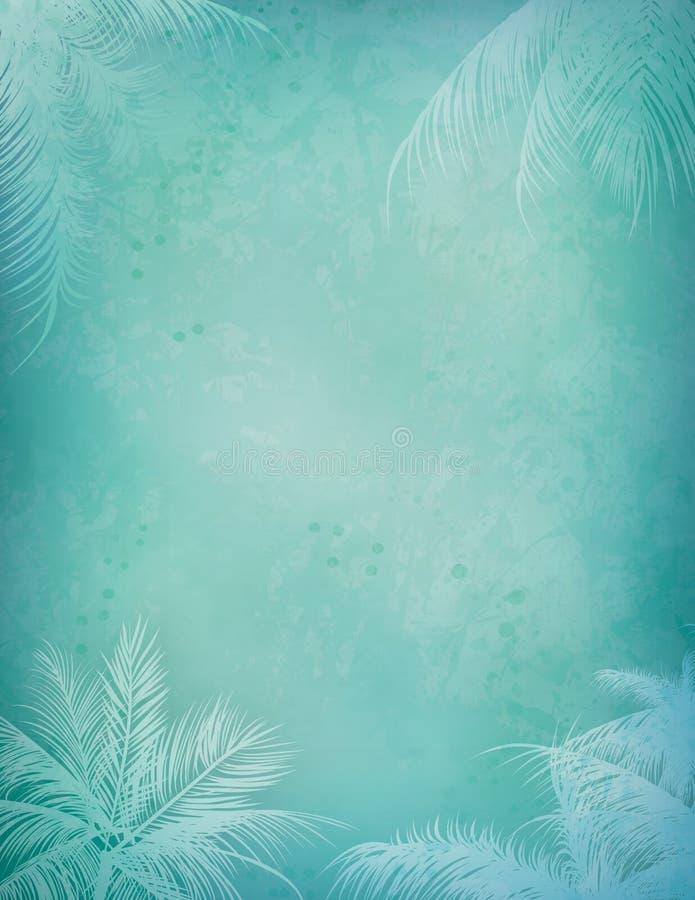 Tropical Island Background vector illustration