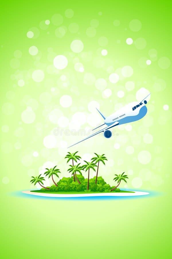 Tropical Island Background royalty free illustration