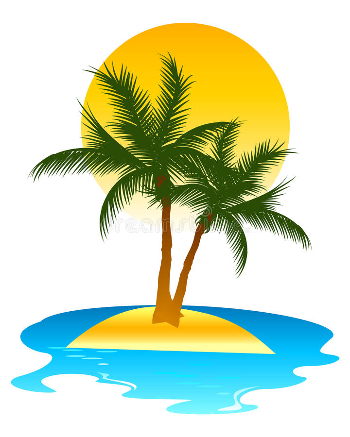 Tropical Island. Background design represents tropical island