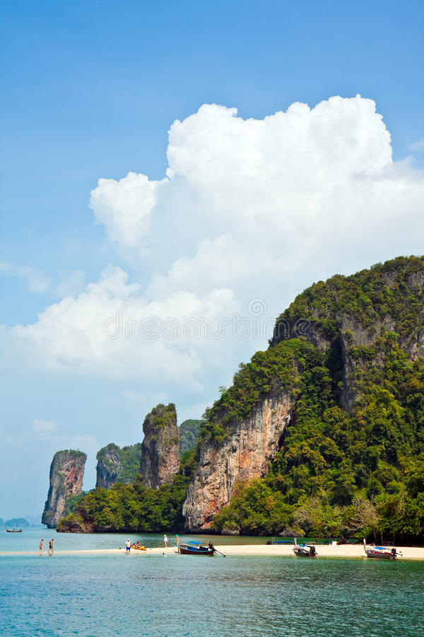 Download Tropical Island Beach stock photo. Image of karst, cliff - 12923778