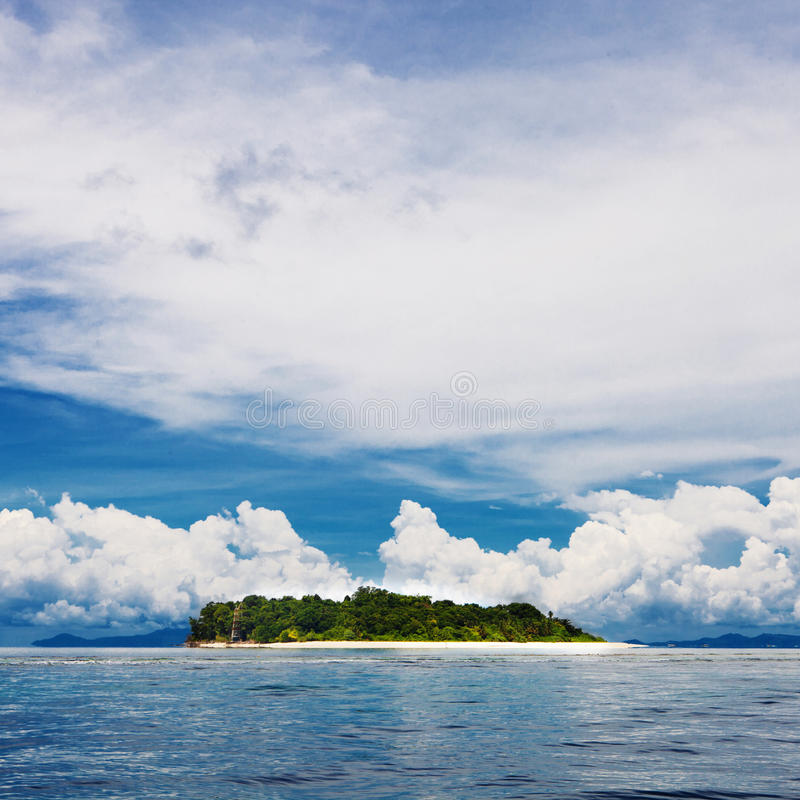 Download Tropical Island Beach With Perfect Sky Stock Photo - Image: 23531024