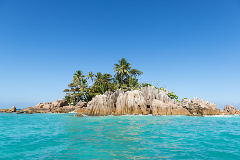 Tropical Island. Calm exotic beach resort. In background stock image