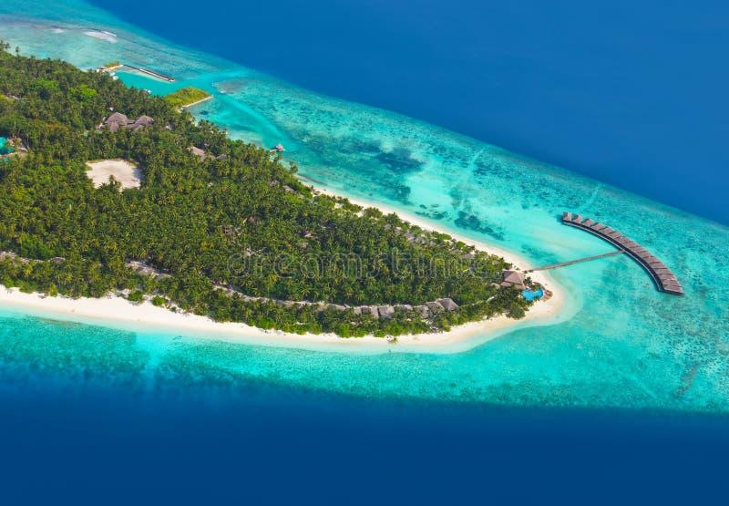 Tropical island at Maldives royalty free stock photos
