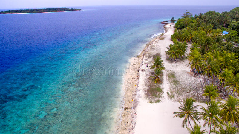 Tropical island from maldives royalty free stock photography