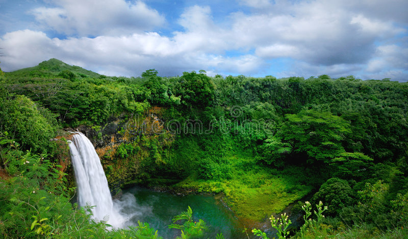 Tropical Island Paradise in Kauai Hawaii stock photos
