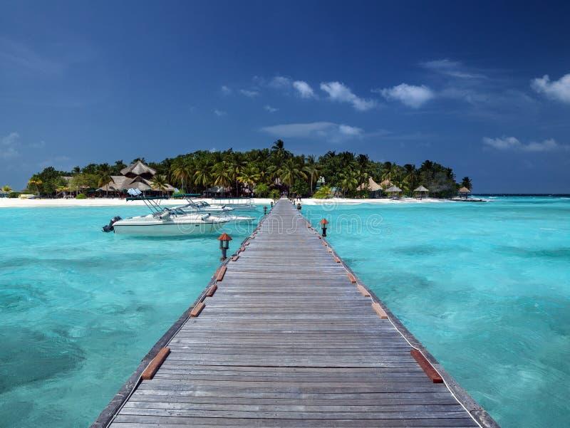 Tropical island paradise - Maldives - Indian Ocean stock image