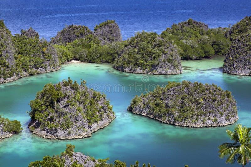 Tropical island paradise Raja Ampat royalty free stock images