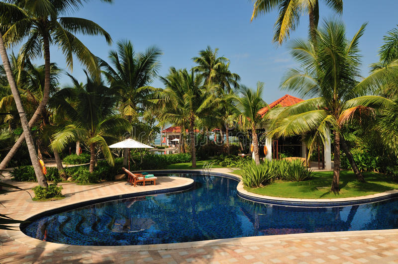 Tropical Island Paradise Resort Royalty Free Stock Photos