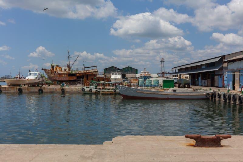Tropical island. Pier. stock photo