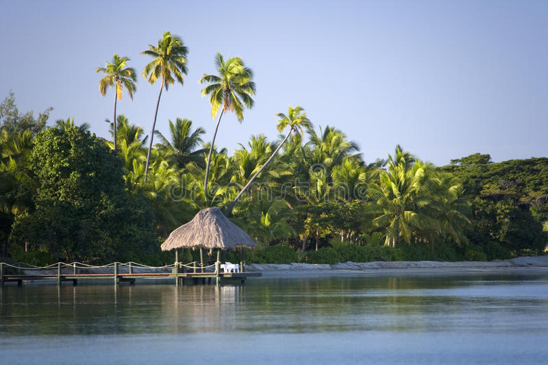 Tropical Island in the South Pacific stock photos