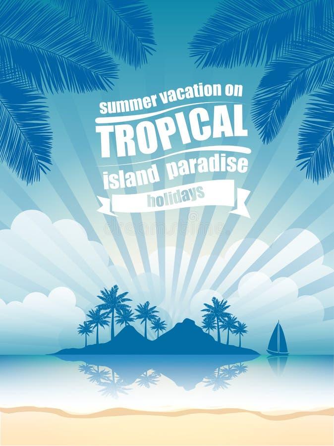 Tropical island vector illustration