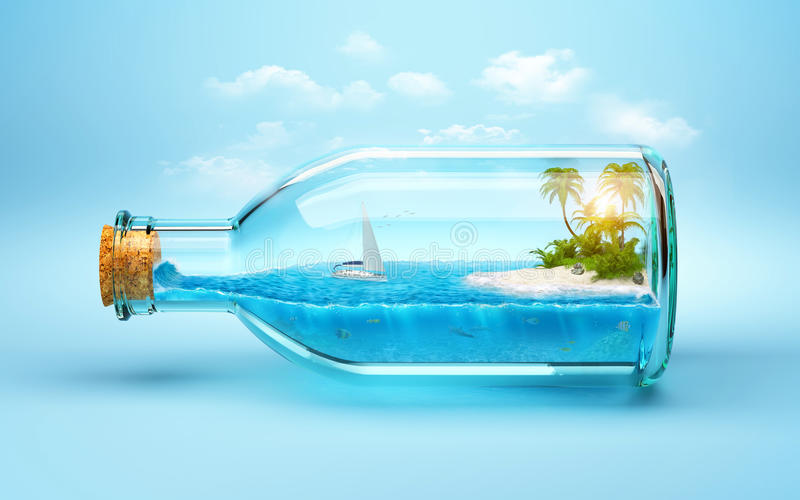 Download Tropical island stock illustration. Image of blue, leisure - 40145390