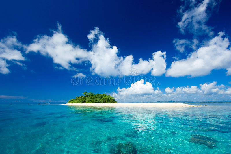 Tropical Island Vacation Paradise Royalty Free Stock Images
