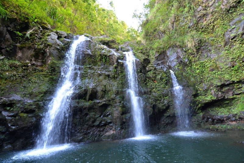 Tropical Island Waterfalls Stock Photo. Image Of America