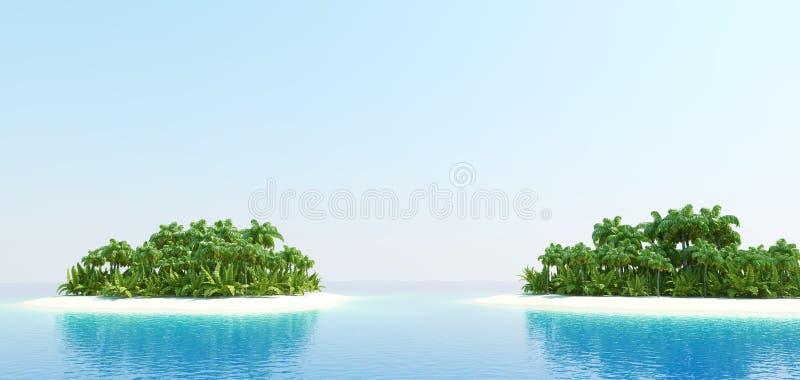 Tropical Islands royalty free illustration