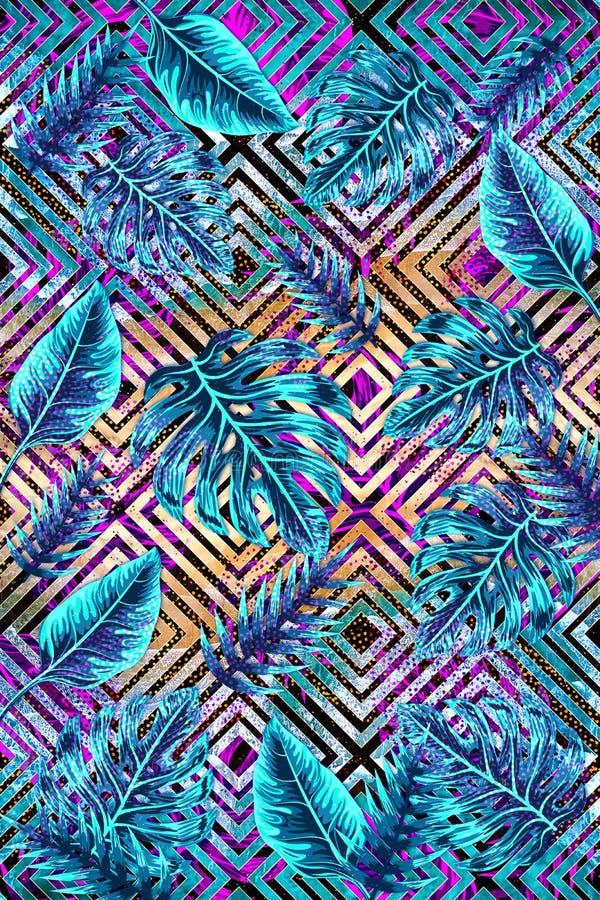Tropical IX - abstract geometric design stock photo