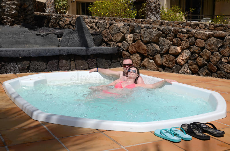 Tropical jacuzzi for couples