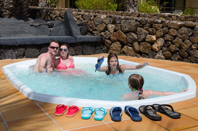 Download Tropical Jacuzzi For Whole Family Stock Photo - Image: 29202372
