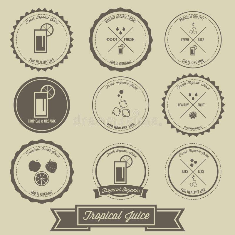 Tropical Juice Vintage Label Design stock illustration
