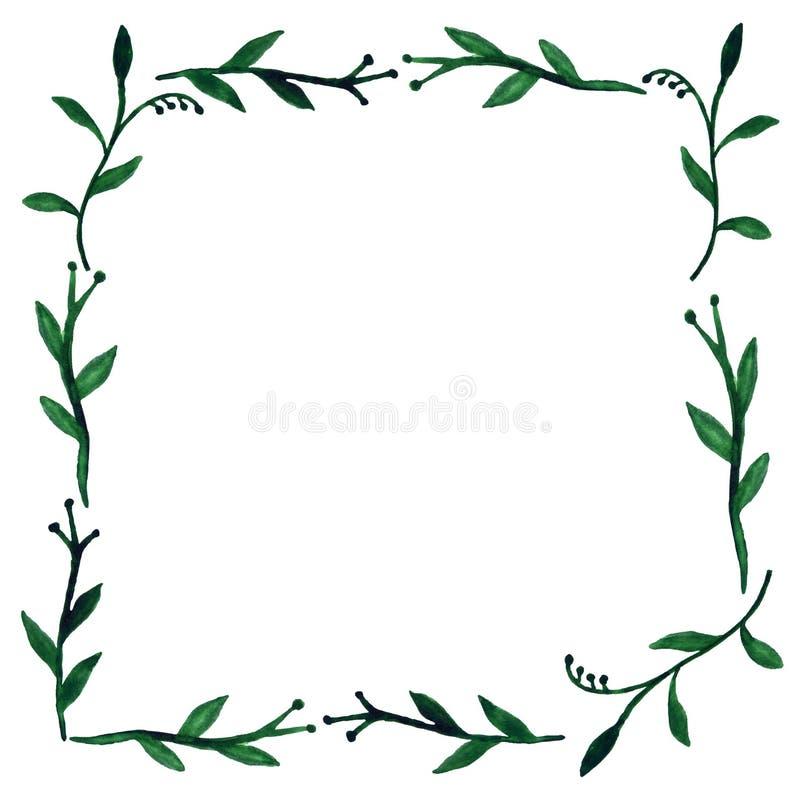 Tropical Jungle Leaves frame stock illustration
