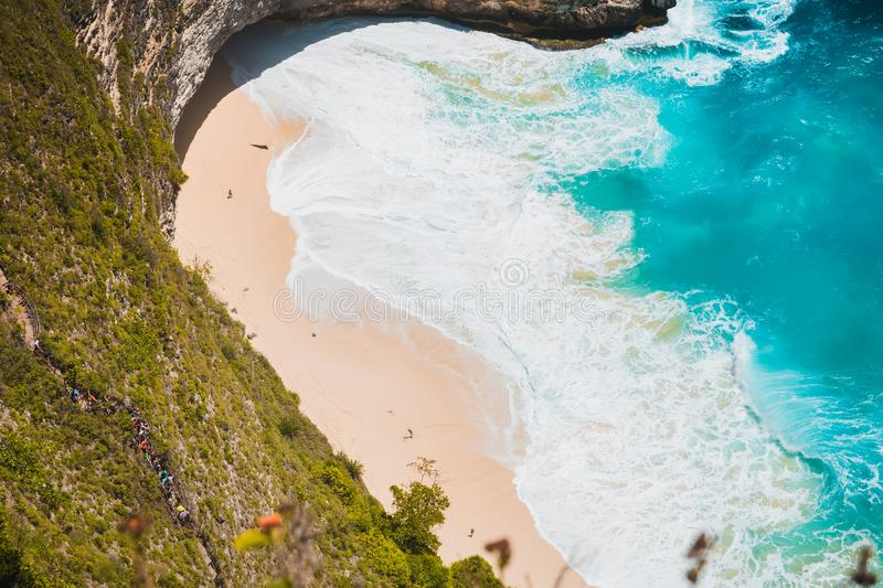 Tropical Kelingking Beach on Nusa Penida Island, Bali, Indonesia. Tropical Kelingking Beach on Nusa Penida Island, Bali stock image