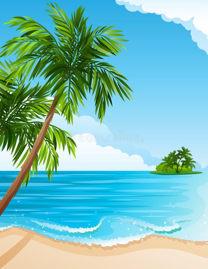 Tropical landscape royalty free illustration