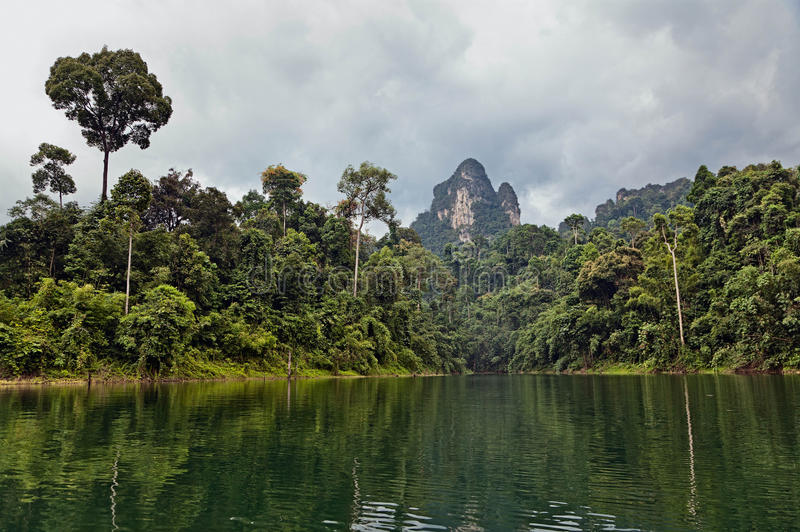 Tropical Landscape. Royalty Free Stock Photo