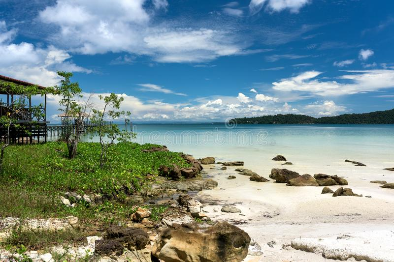 Tropical landscape with beautiful beach stock images