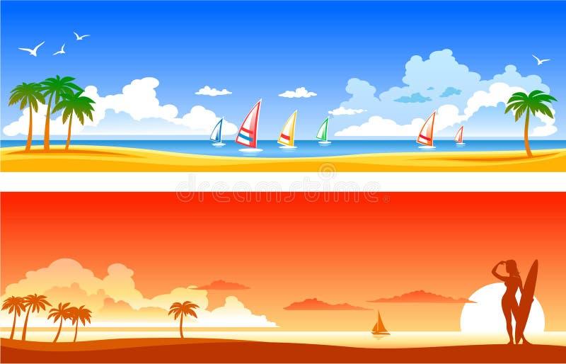 Tropical Landscapes stock illustration