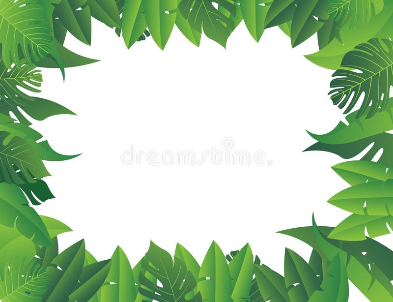 Tropical leaf background vector illustration