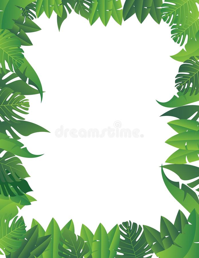 Tropical leaf background stock illustration