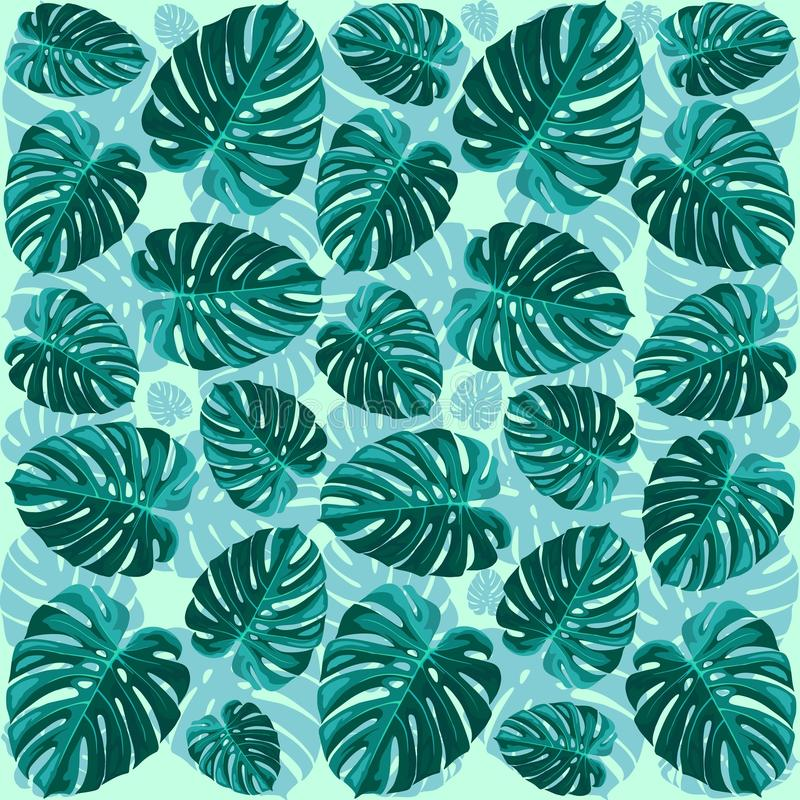 Download Tropical Leaf Monstera Plant Pattern Stock Vector - Illustration of plant, green: 73944316