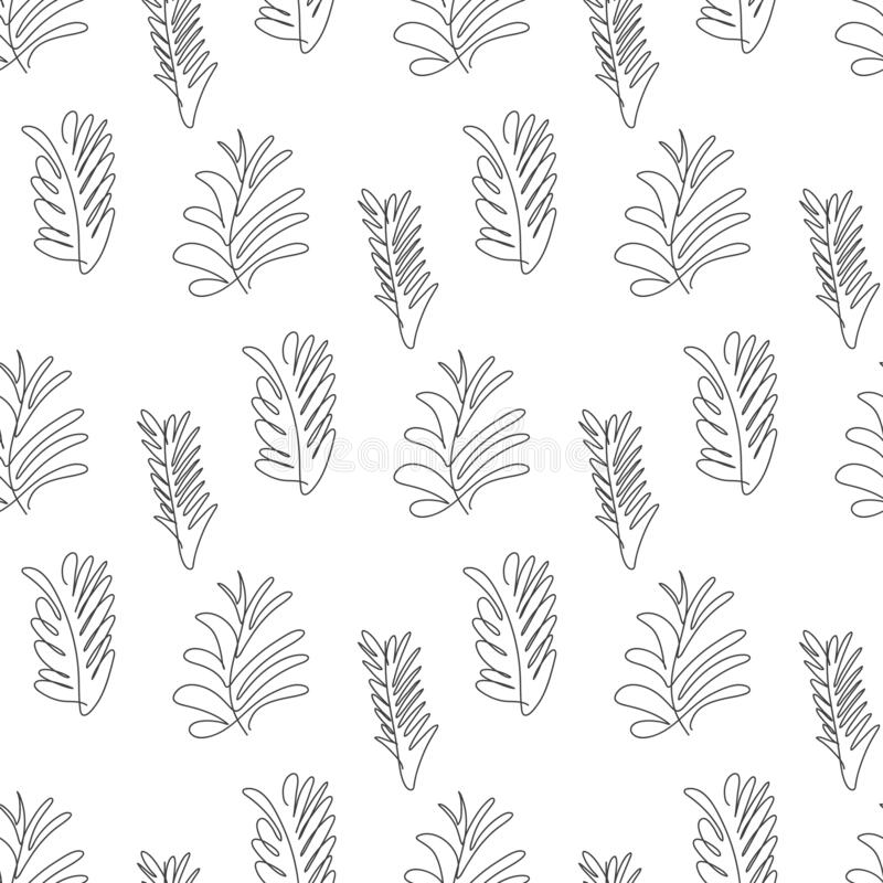 Tropical Leaves Seamless Pattern Hand Drawn Outline Leaf Background Modern Line Art Aesthetic Contour Vector Stock Vector Illustration Of Minimal Background 193838596 31 png files 300 dpi with transparent background. dreamstime com