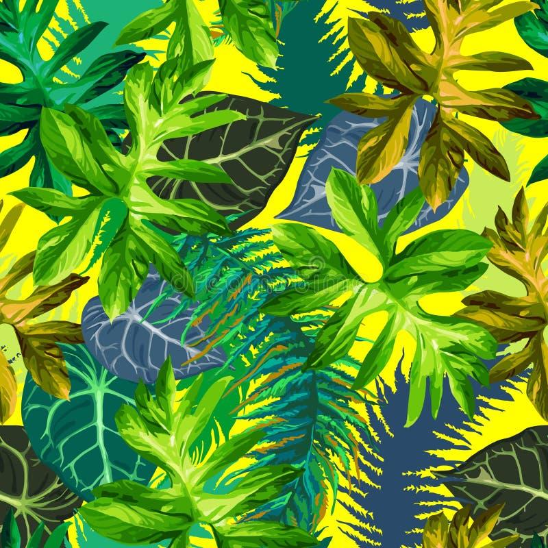Tropical leaves stock illustration