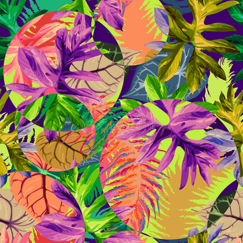 Tropical leaves royalty free illustration