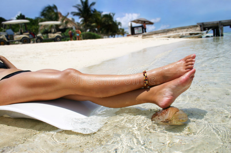 Tropical Legs royalty free stock images