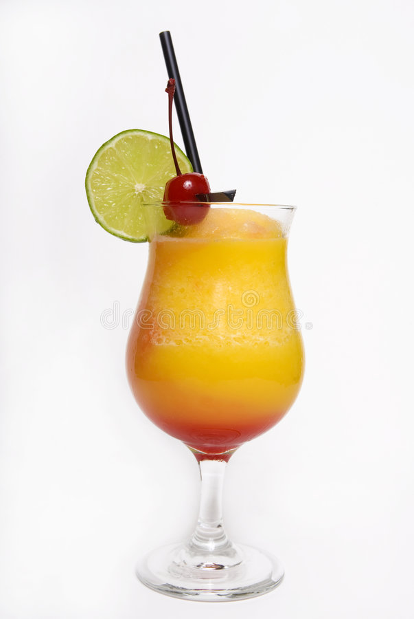 A tropical Maitai cocktail from Hawaii royalty free stock photos