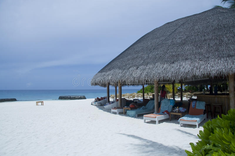 Tropical Maldives Resort Stock Images