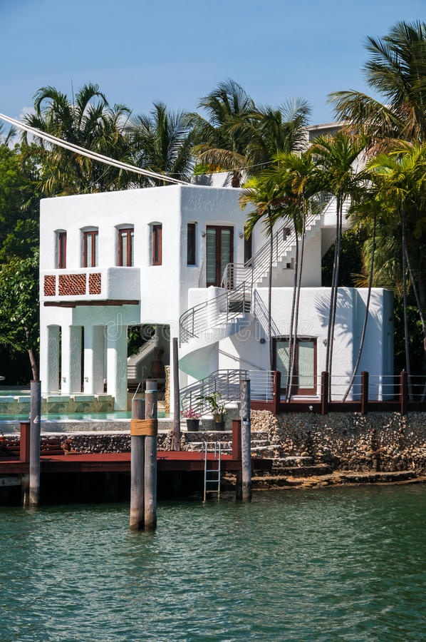 Tropical mansion royalty free stock photos