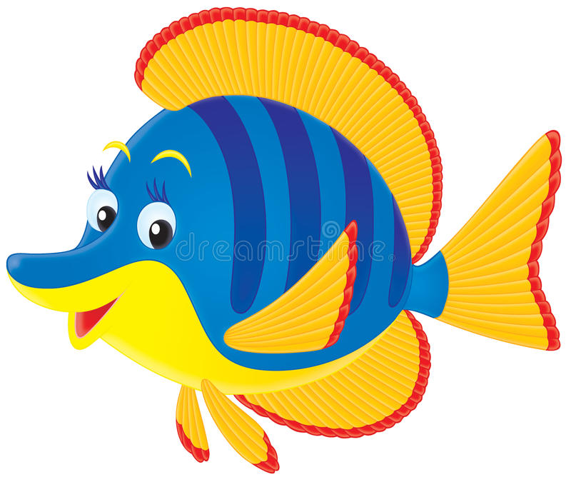 Download Tropical marine fish stock illustration. Image of cartoon - 15059973