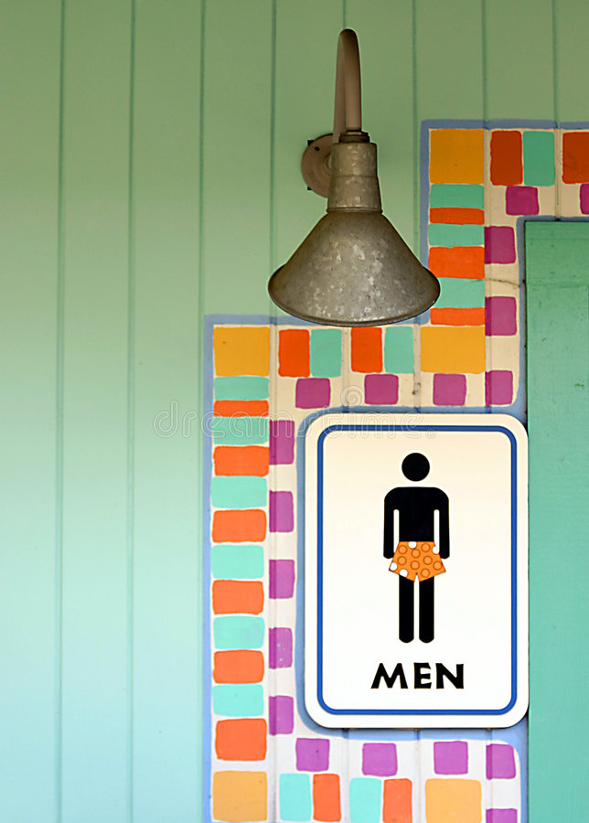 Download Tropical mens room sign stock image. Image of bathroom - 2095073