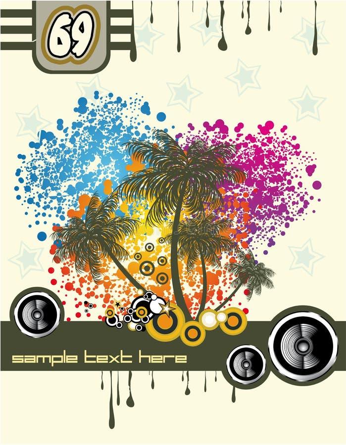 Tropical Music Disco Flyer vector illustration